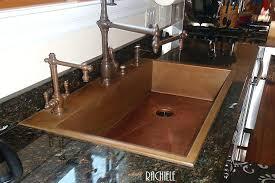 sink for granite countertop custom copper sinks top mount retrofit sinks