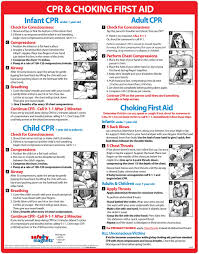 Infant Choking Chart Infant Cpr And Choking Magnetic Laminated Card Baby Infant Choking Sign By Safety Magnets Child And Adult Cpr Instructions First Aid Heimlich