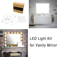 Vanity lighting strips Floating Led Vanity Strip Light Vanity Lights Strip Kit For Lighted Makeup Dressing Table Mirror Plug In Led Lighting Becausekidsgrowinfo Led Vanity Strip Light Vanity Lights Strip Kit For Lighted Makeup