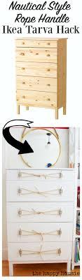 ikea tarva dresser hack. Nautical Style Ikea Tarva Hack Dresser With Dock Cleat And Rope Handles At Thehappyhousie N