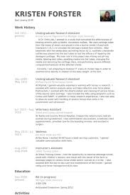 Research Assistant Resume Sample Best Professional Resumes