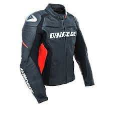 dainese racing d1 leather jacket black black red thumb 2