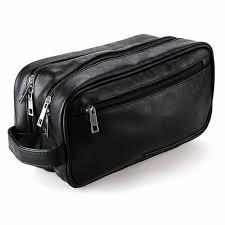 nike golf mens toiletry travel bag dopp kit shave case carry leather nylon 1 for