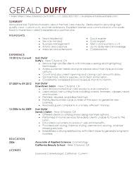 Personal Stylist Resume Hair Stylist Resume Sample Hair Stylist ...
