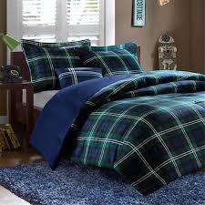 blue plaid comforter set check bedding bed sets comforters quilts 6
