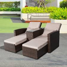 patio couch set  full size of outsunny pc patio outdoor furniture rattan lounge set sofa wicker chaise chair wicker
