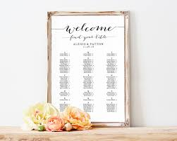 Alphabetical Seating Chart Seating Chart Template Wedding