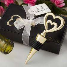 double heart wedding favors