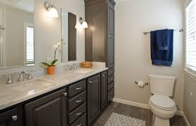 The Color Gray gray double vanity