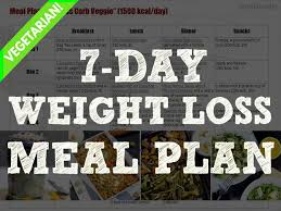 7 Day Vegetarian Weight Loss Meal Plan 1500 Kcal Day Free