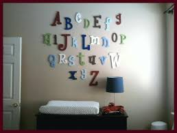 wood alphabet letters wall art alphabet wall decals for kids rooms painted wooden alphabet letter