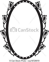 vintage frame design oval. Vintage Oval Frame - Csp18726919 Design R