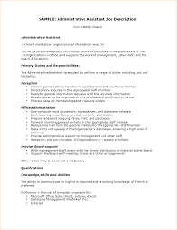 administrative assistant job description business proposal sample administrative assistant job description from carfac ontario