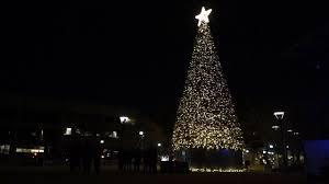 Park Row Lighting Arlington Texas Arlingtons New Christmas Tree Shining Bright For The