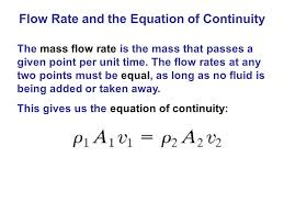 the mass flow rate is the mass that p a given point per unit time