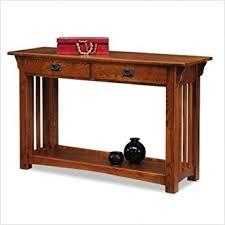 Mission oak sofa table 2