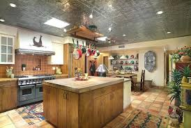 galvanized tin ceiling galvanized tin ceiling kitchen southwestern with recessed wall niche recessed wall niche double