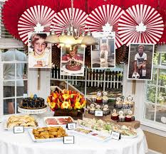 Guests enjoyed a cake that convincingly resembled tree bark carved with messages, a s'mores bar, and a good humor ice cream truck. 50th Birthday Party Ideas For Men Google Search Weddings At Repinned Net