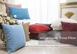 soft throw pillows. Interesting Throw Wholesale Fall Decor Pillow Covers Soft Decorative Striped Corduroy Velvet  Square Throw Sofa Cushion Set For Couch To Pillows R