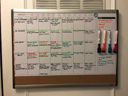 Cork Board Chore Chart Get Your Family Organized Whiteboard Family Chore Chart