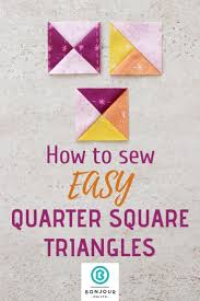 Quarter Square Triangles Quilts Sewing Projects For