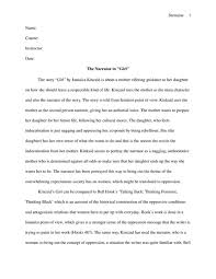 girl by kincaid essay the narrator in the story  the narrator in the story quot girl quot by kincaid english essay the narrator in