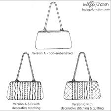 Handbag Patterns Unique Petite Stitched Purse Sewing Pattern By Indygo Junction IndygoJunction
