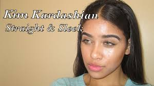 Middle Split Hair Style kim kardashian tutorial straight & sleek middle part youtube 4842 by wearticles.com
