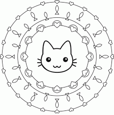 Small Picture Coloring Pages Free Mandala Coloring Pages Easy Redcabworcester