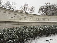 the front gate at american university
