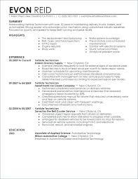 Resume For Auto Mechanic Enchanting Automotive Technician Resume Objective Auto Body Technician Resume