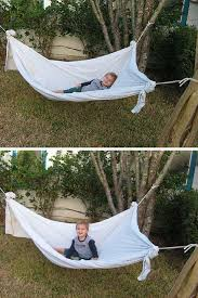 Easy Forts To Build Homemade Hammock Genius Diy Hammock And Bed Sheets