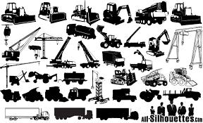 Bezierinfoベジェインフォ 建設機械のシルエット Construction Machines