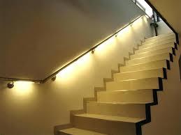 indoor stair lighting wall recessed ideas image of handrail lights