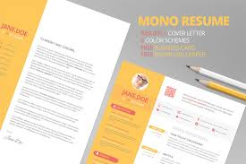 Resume Mockup Free Mono Resume CV FREE Business Card Resume Templates Creative Market 23