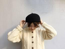 ベレー帽のかぶり方前髪なしのヘアアレンジ カオリノモリ