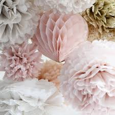 Tissue Balls Party Decorations 100 dusty blush large size tissue paper pom poms party decoration 50