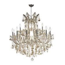 worldwide lighting corp maria theresa polished chrome 19 light chandelier