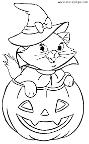 Small Picture Marie Halloween Coloring Sheet Disney Halloween Pinterest