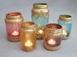 DIY Moroccan Candle Holders --- Simply Collect Glass Jars & Decorate with  Gold Paint