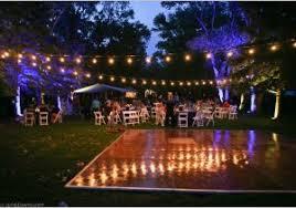 Outdoor Dance Floor Lighting  Warm Weddings At Lazy Oaks