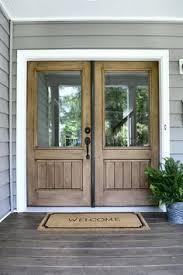 double front doors. One Of My Favorite Features Our Entry Is Double Doors. The Wood Tones Add Warmth And Character To Porch We Chose Clear Glass Panes Front Doors L