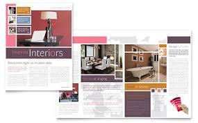 Template Newsletter Designer Interior Design