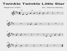 le le little star for beginner violin denley simple violin sheet