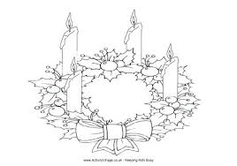 Wreath Coloring Pages To Print Crammed Advent Wreath Coloring Page
