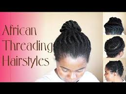 styling african threading on natural hair natural sisters south african hair