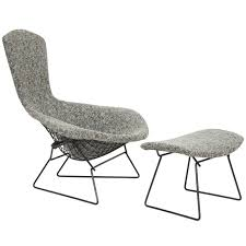 harry bertoia bird chair and ottoman for knoll at stdibs