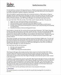 Quality Assurance Plan Example 11 Quality Plan Examples Samples Pdf Word Pages Examples