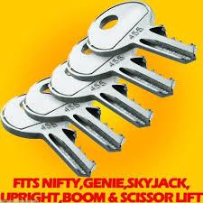 upright lift genie key fits scissor lift boom lifts skyjack nifty upright