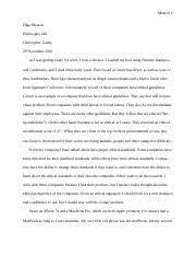 philosophy essay monroe olga monroe philosophy professor  6 pages ethics essay 2